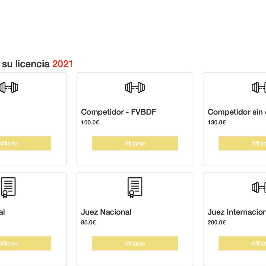 LICENCIAS TEMPORADA 2021, YA DISPONIBLES